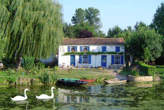 The Marais Poitevin or 'Green Venice' is a fascinating area of waterways to the west of Niort.